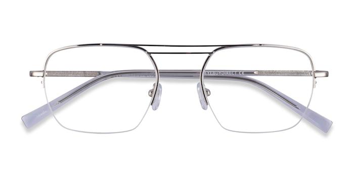 Silver Clear Cabrini -  Metal Eyeglasses