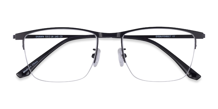 Matte Black Shawn -  Metal Eyeglasses