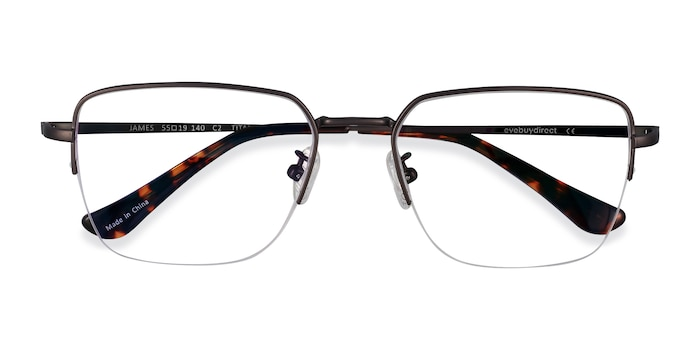 Gunmetal James -  Lightweight Titanium Eyeglasses