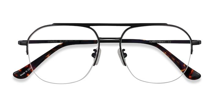 Black Conrad -  Fashion Titanium Eyeglasses