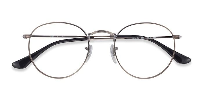 Gunmetal Ray-Ban RB3447V -  Metal Eyeglasses