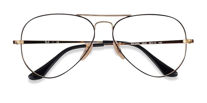 Black Gold Ray-Ban RB6489 -  Metal Eyeglasses