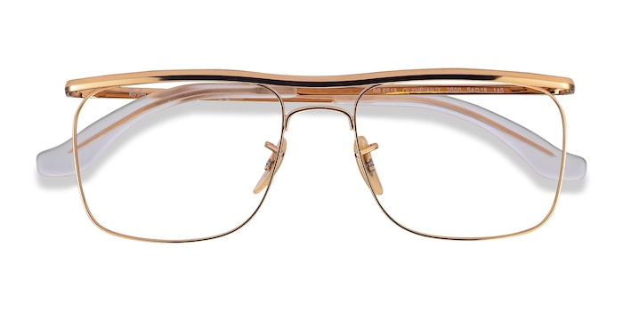 Gold Ray-Ban RB6519 -  Metal Eyeglasses