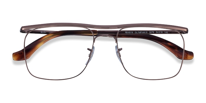 Brown Ray-Ban RB6519 -  Designer Metal Eyeglasses
