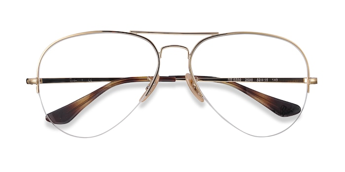 Gold Ray-Ban RB6589 -  Designer Metal Eyeglasses