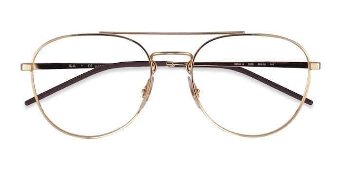 Gold Ray-Ban RB6414 -  Metal Eyeglasses