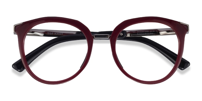 Red & Silver Oakley Top Knot -  Acetate Eyeglasses