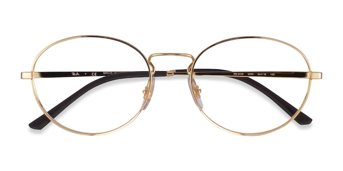 Gold Ray-Ban RB6439 -  Metal Eyeglasses