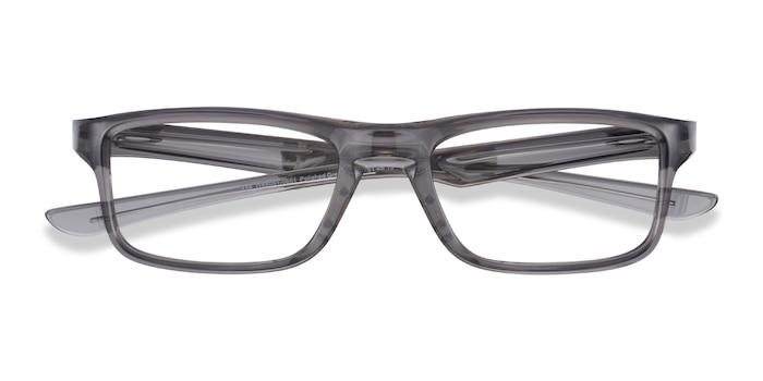 Polished Gray Smoke Oakley Plank 2.0 -  Plastic Eyeglasses