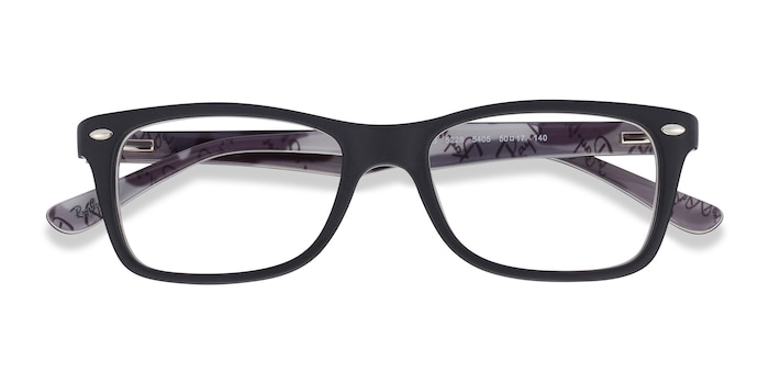 Black & Gray Ray-Ban RB5228 -  Acetate Eyeglasses