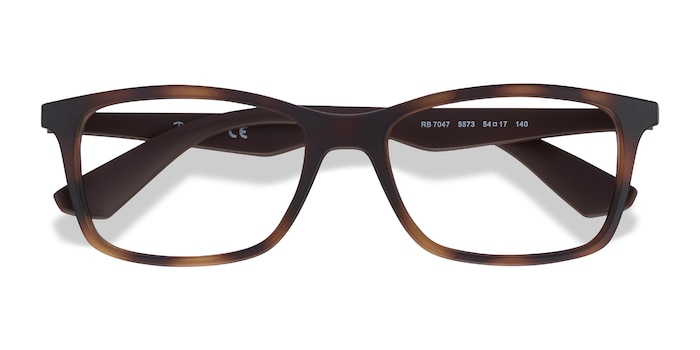 Tortoise Brown Ray-Ban RB7047 -  Lightweight Plastic Eyeglasses