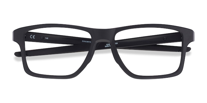 Satin Black Oakley Chamfer Squared -  Plastic Eyeglasses