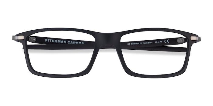 Satin Black Oakley Pitchman Carbon -  Designer Plastic Eyeglasses