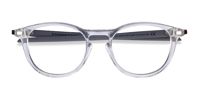 Clear Gray Oakley Pitchman R Carbon -  Plastic Eyeglasses