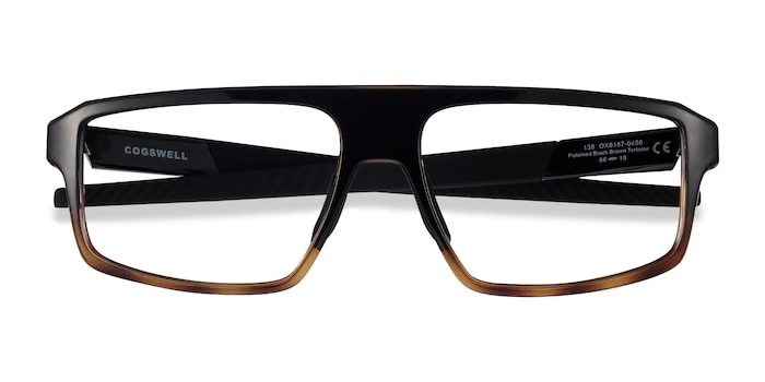 Polished Black Brown Tortoise Oakley Cogswell -  Plastic Eyeglasses