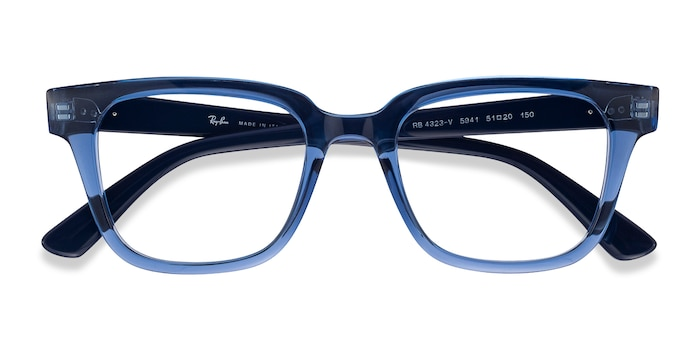 Clear Blue Ray-Ban RB4323V -  Designer Plastic Eyeglasses