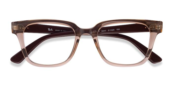 Clear Brown Ray-Ban RB4323V -  Lightweight Plastic Eyeglasses
