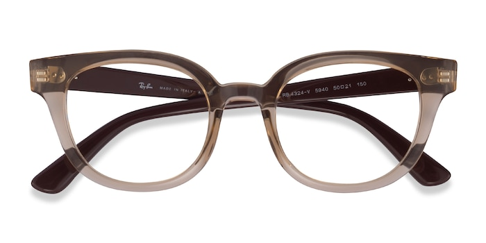 Clear Brown Ray-Ban RB4324V -  Plastic Eyeglasses