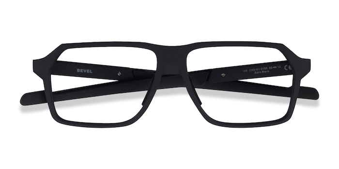 Black Oakley Bevel -  Plastic Eyeglasses