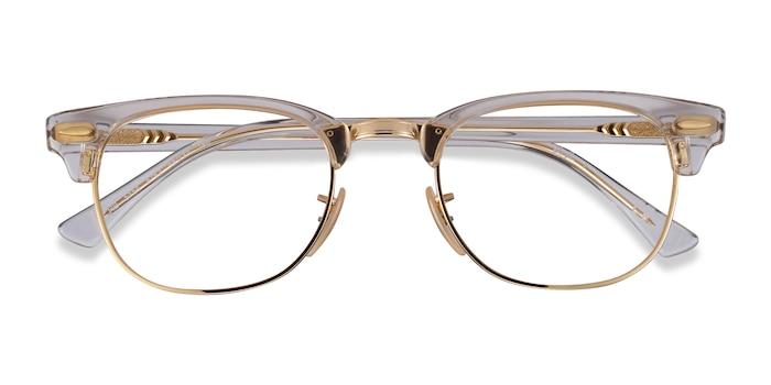 Gold Transparent Ray-Ban RB5154 -  Metal Eyeglasses
