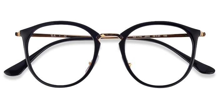 Black Gold Ray-Ban RB7140 -  Classic Metal Eyeglasses