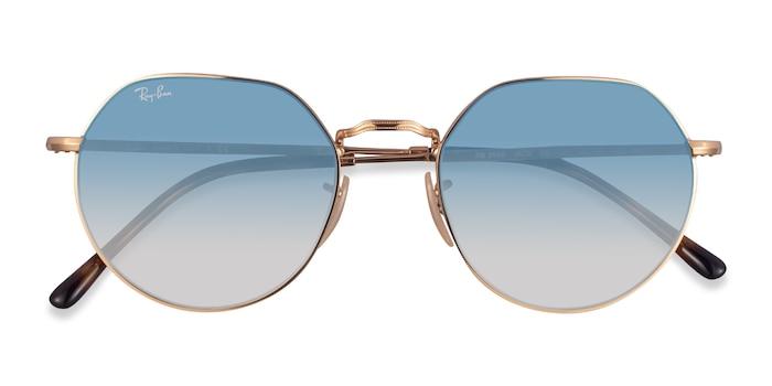 Gold Ray-Ban RB3565 Jack -  Metal Sunglasses