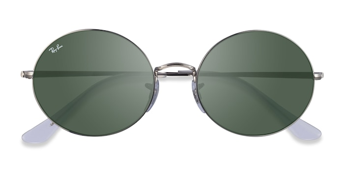 Silver Clear Ray-Ban RB1970 -  Metal Sunglasses