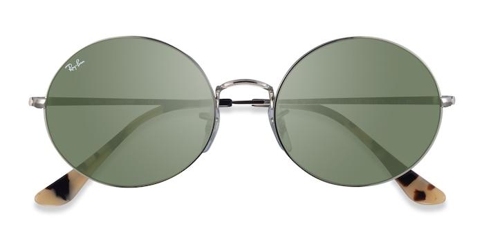 Silver Ivory Tortoise Ray-Ban RB1970 -  Metal Sunglasses