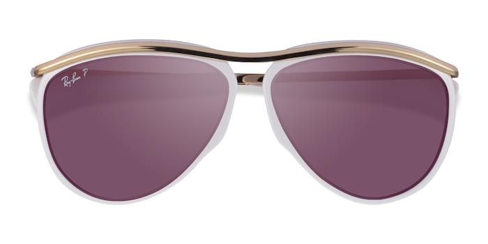 White Ray-Ban RB2219 -  Metal Sunglasses