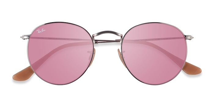 Silver Ray-Ban RB3447 -  Metal Sunglasses