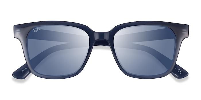 Transparent Dark Blue Ray-Ban RB4323 -  Plastic Sunglasses
