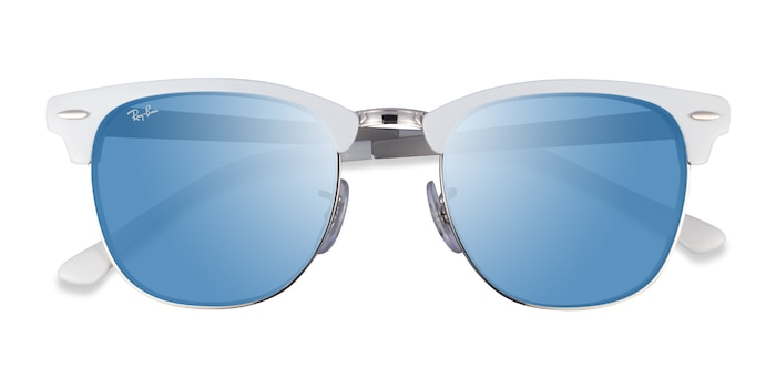 White On Silver Ray-Ban RB3716 -  Acetate Sunglasses