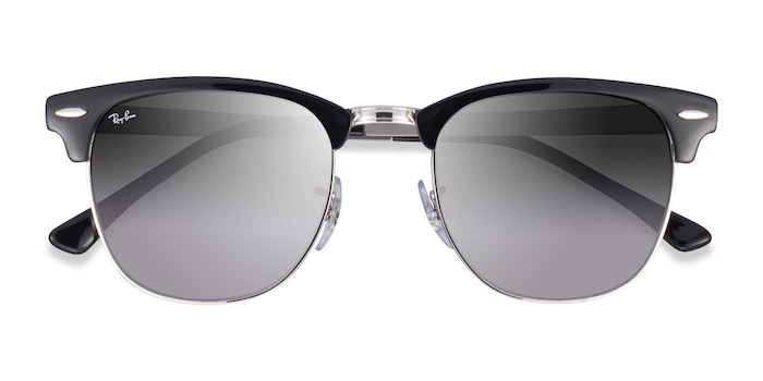 Black On Silver Ray-Ban RB3716 -  Acetate Sunglasses