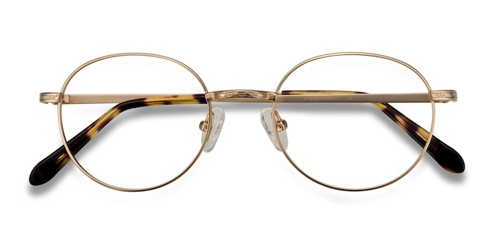 Golden Ledger -  Classic Metal Eyeglasses
