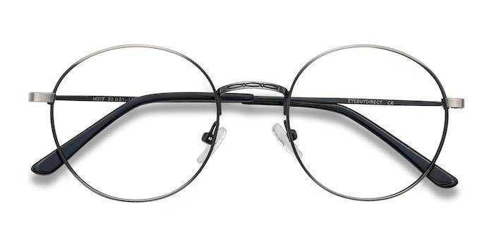 Gunmetal Motif -  Vintage Metal Eyeglasses