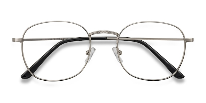 Silver Suspense -  Geek Metal Eyeglasses