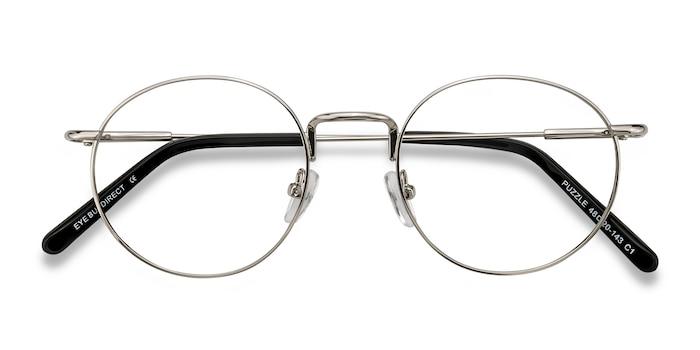 Silver Puzzle -  Vintage Metal Eyeglasses