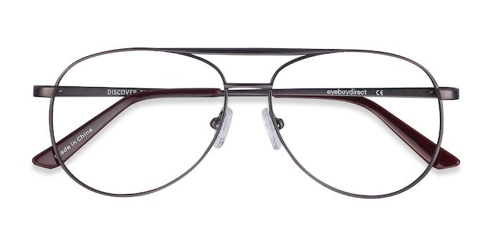 Gunmetal Discover -  Vintage Metal Eyeglasses