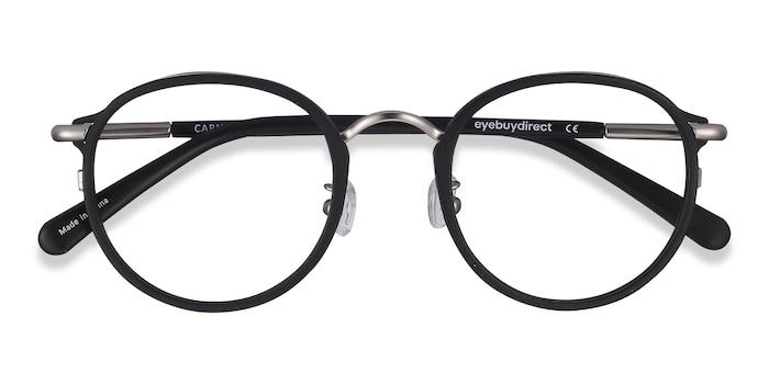 Matte Black Carnival -  Vintage Metal Eyeglasses