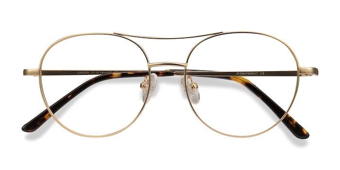 Golden Cassini -  Vintage Metal Eyeglasses