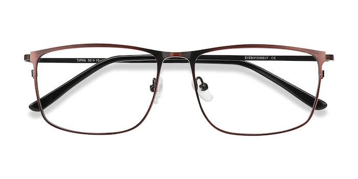 Red Typha -  Lightweight Metal Eyeglasses