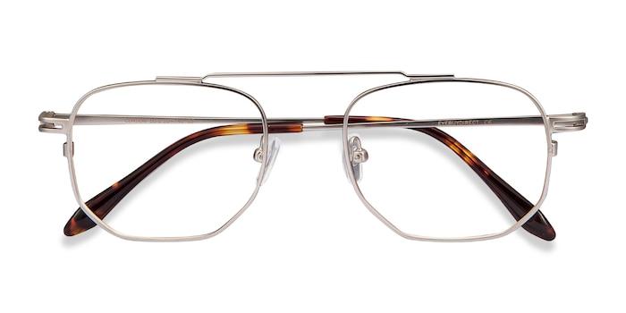 Matte Silver Cordon -  Metal Eyeglasses