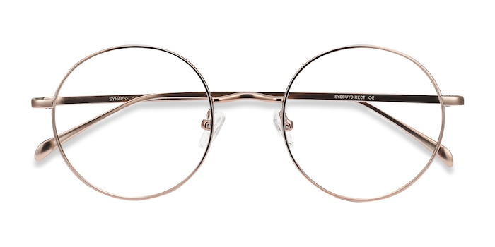 Pink Golden Synapse -  Metal Eyeglasses