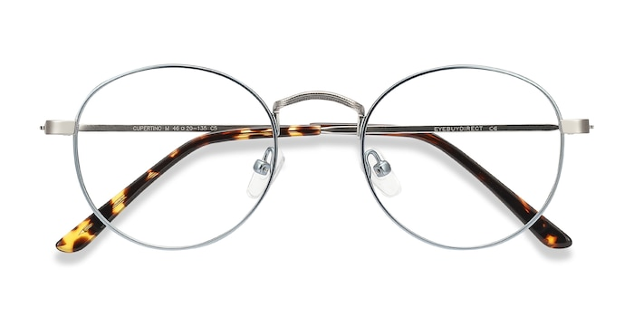 Frost Blue Cupertino -  Colorful Metal Eyeglasses