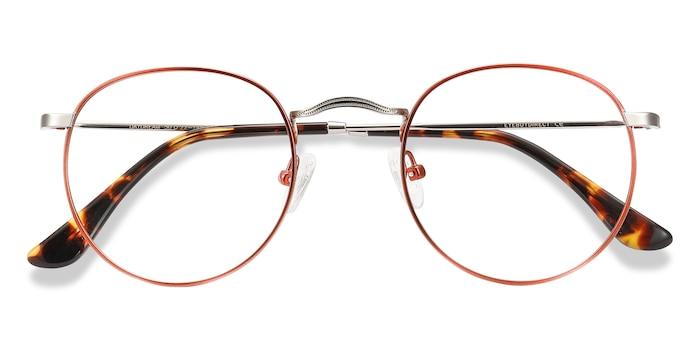 Cinnamon Red Daydream -  Vintage Metal Eyeglasses