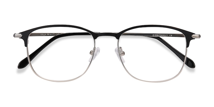 Black Cella -  Metal Eyeglasses