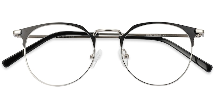 Black Silver Veronica -  Metal Eyeglasses