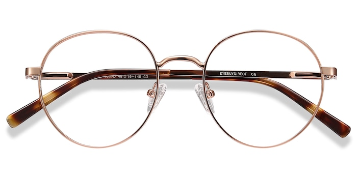 Rose Gold Nomad -  Vintage Metal Eyeglasses
