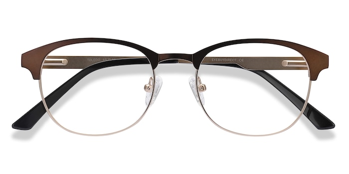 Brown Toledo -  Metal Eyeglasses