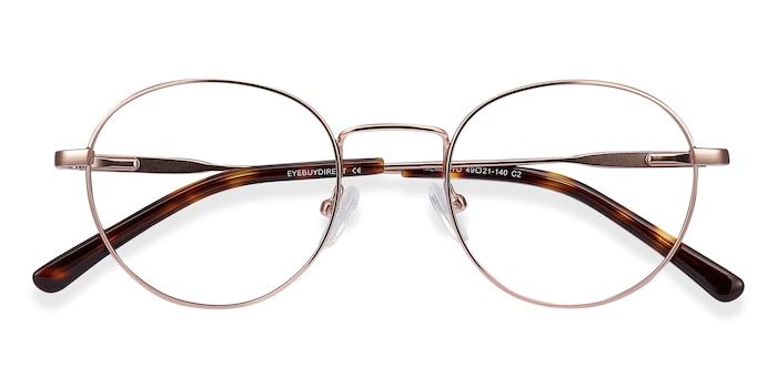 Rose Gold Memento -  Lightweight Metal Eyeglasses